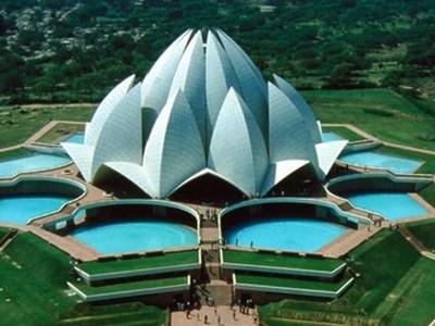 Delhi. Lótusz-szentély